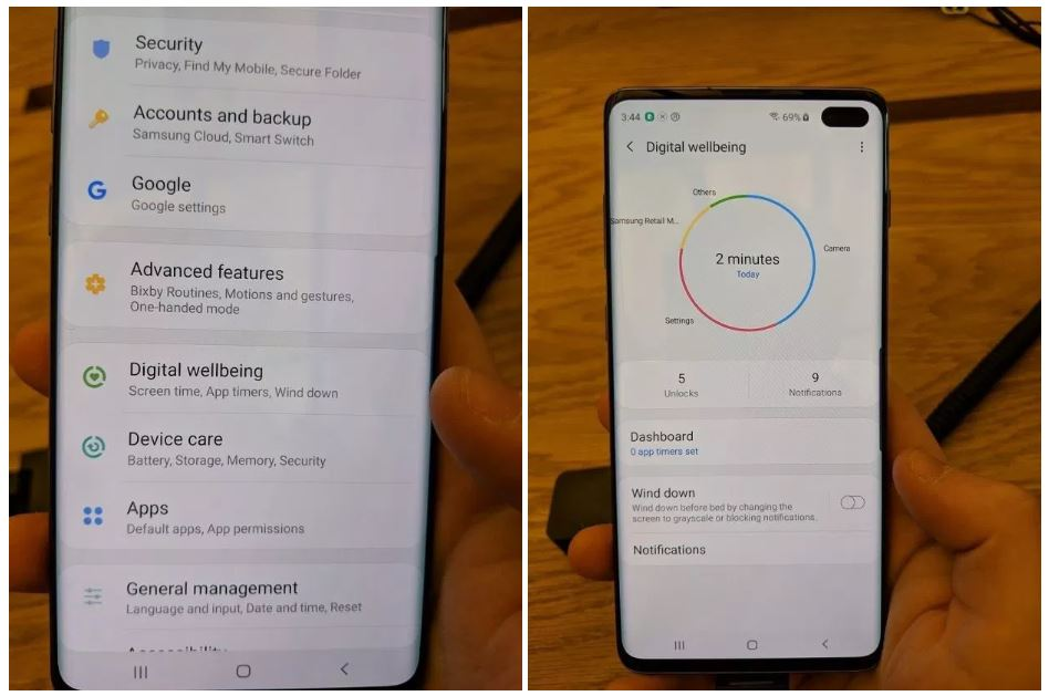 digital wellbeing galaxy s10
