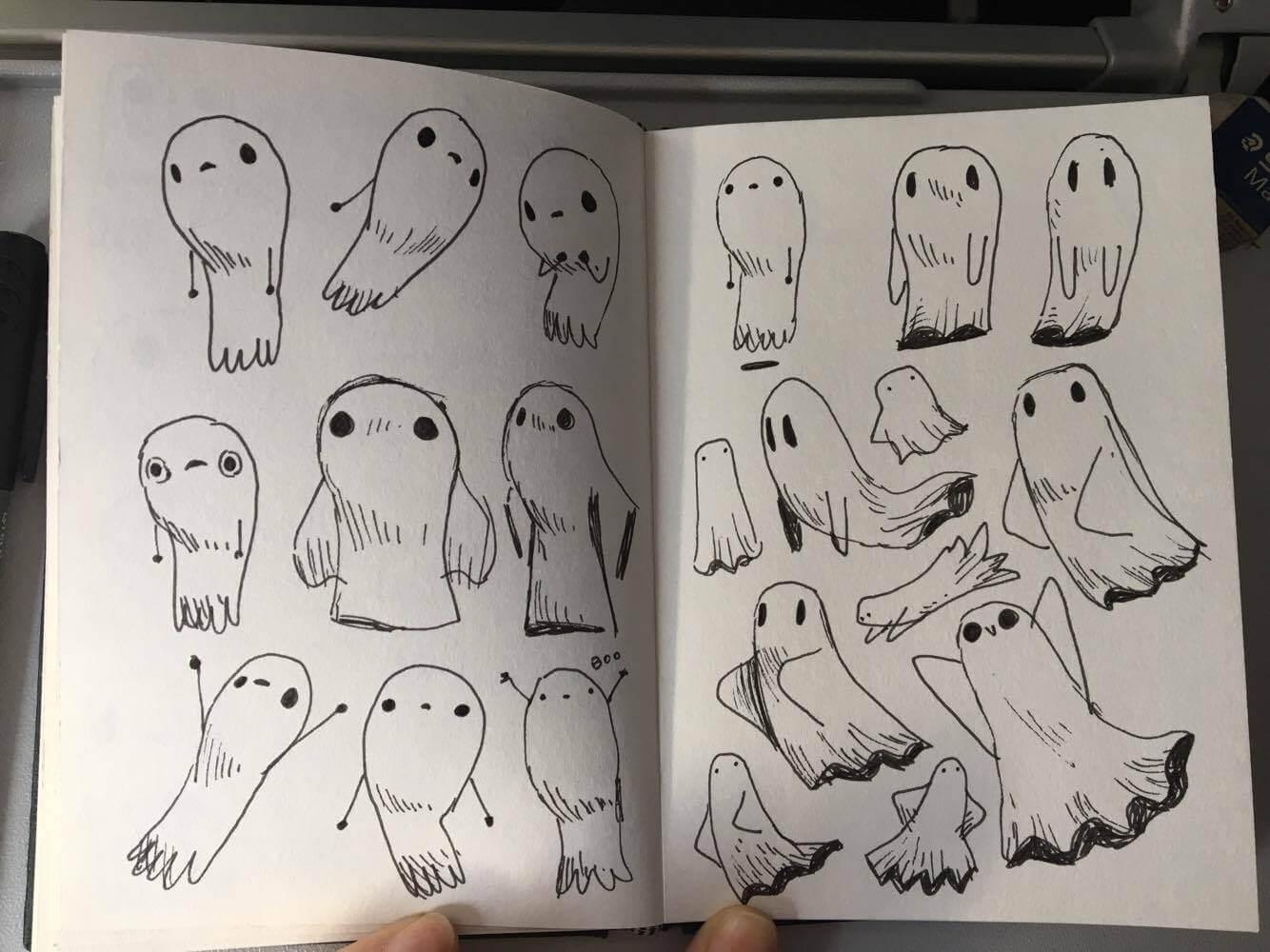 doodle halloween entwürfe