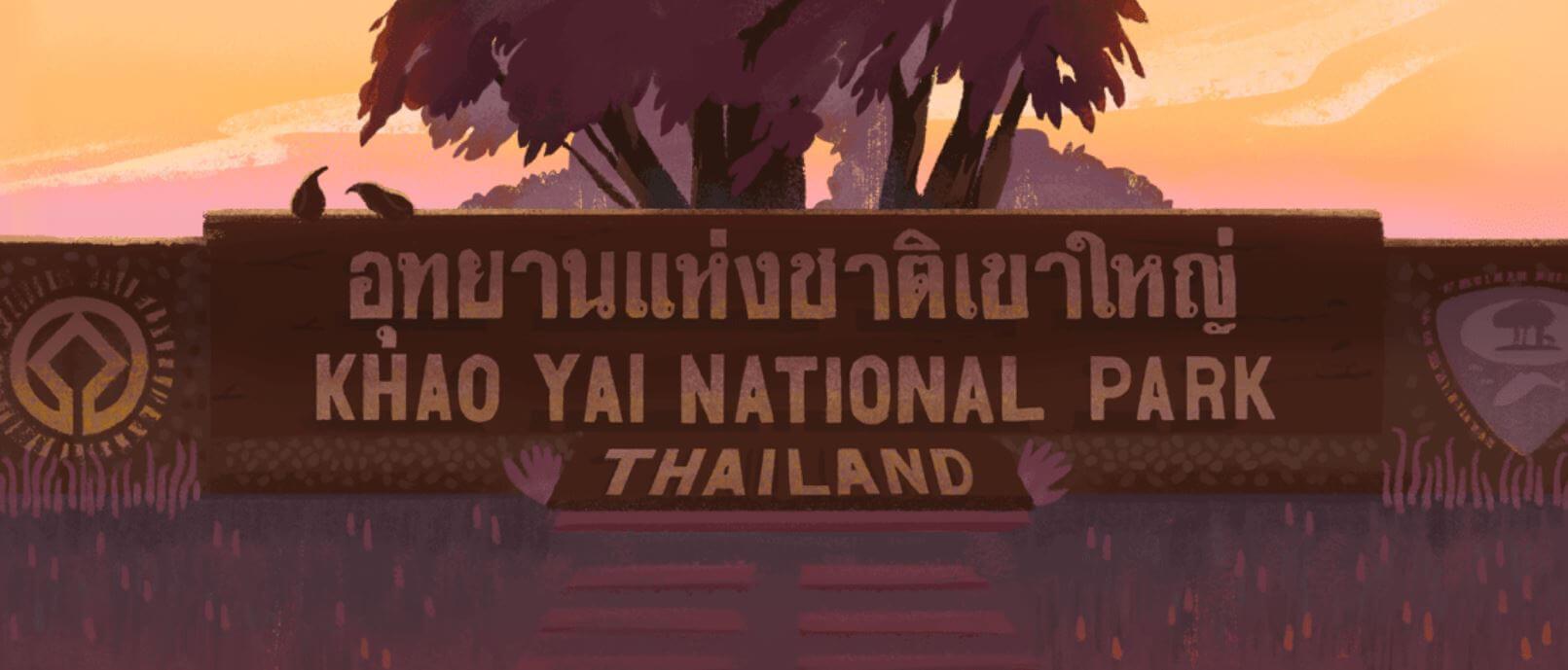 Google Doodle 55 Jahre Nationalpark Khao Yai