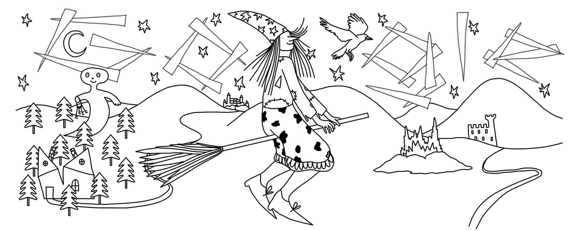 Doodle-Entwurf Otfried Preußler
