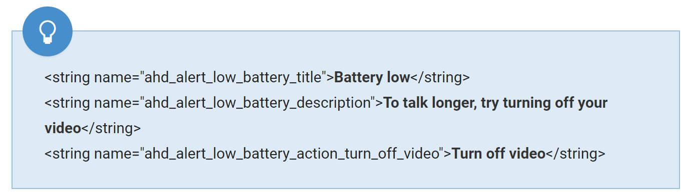 duo low battery