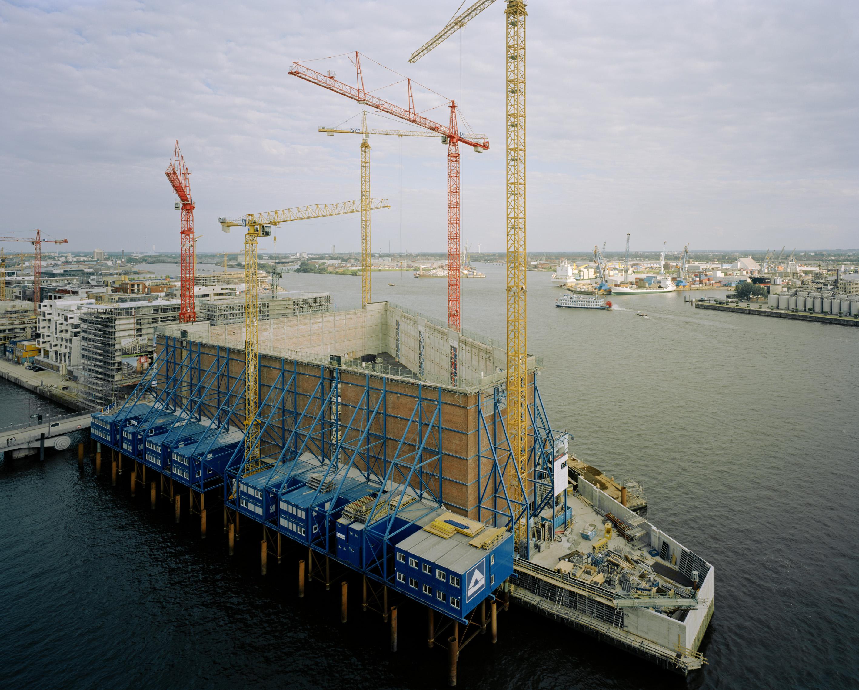 Umbau des Kaispeicher A zur Elbphilharmonie, Hamburg,Juni 2008
