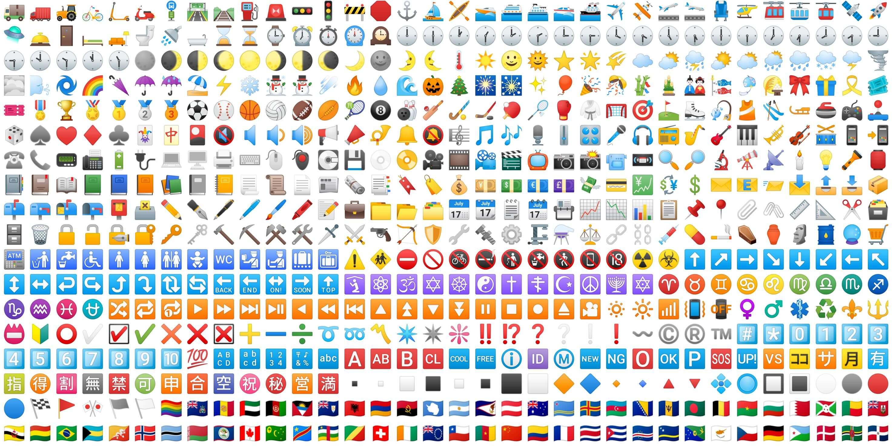 Android Oreo: Hier seht ihr alle 2.669 neuen Emojis des Betriebssystems in der Übersicht - GWB