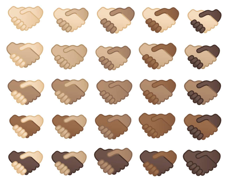 emoji handshake varianten