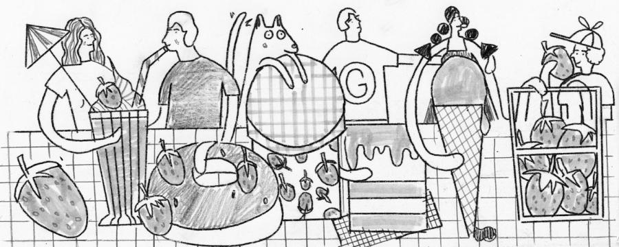 erdbeersaison doodle entwurf 2
