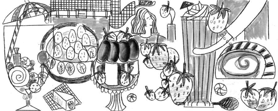 erdbeersaison doodle entwurf 3