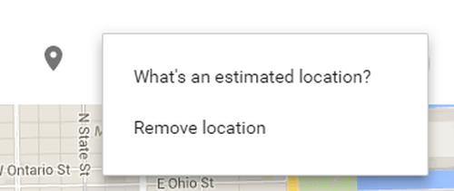 estimated location