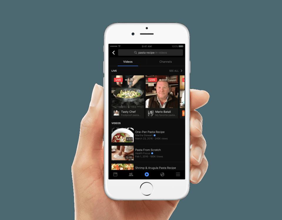 facebook video search