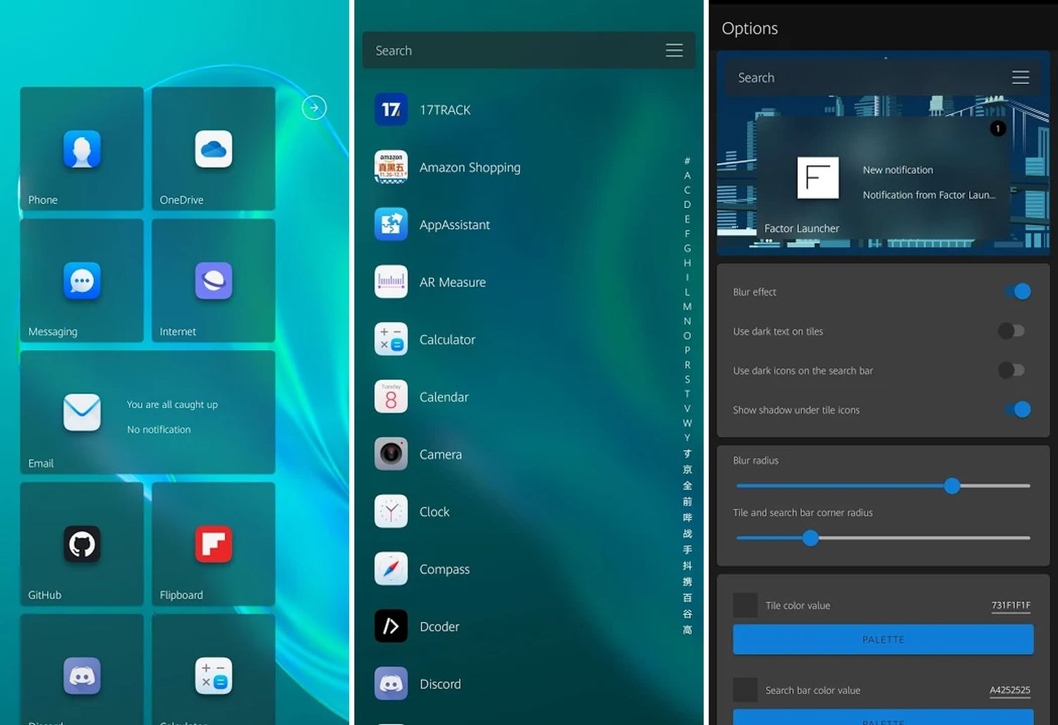 factor launcher android windows