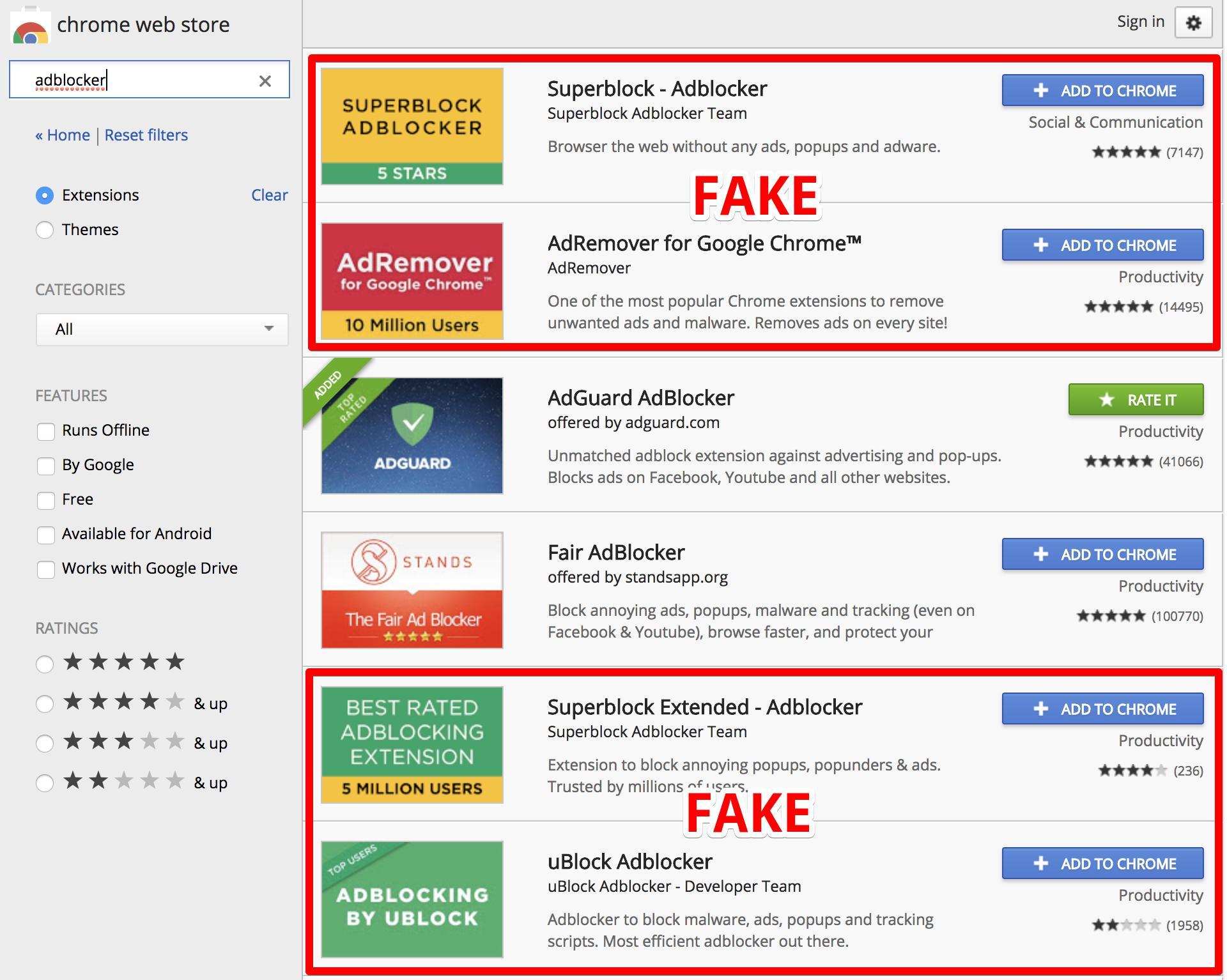 Fake AdBlocker
