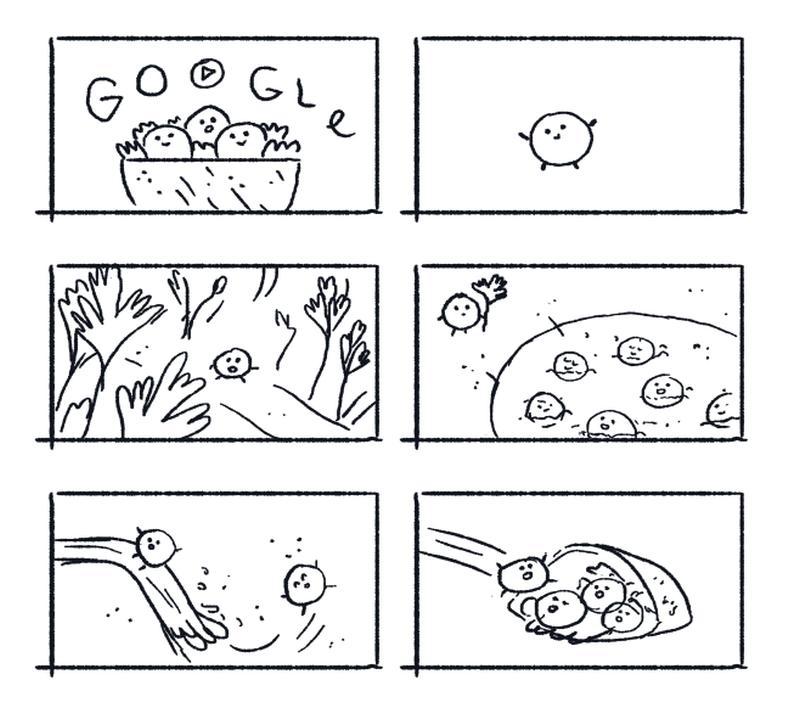 falafel doodle entwurf