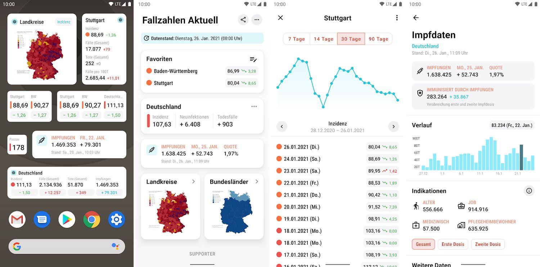 fallzahlen aktuell app