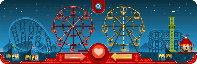 Google Doodle George Ferris - Valentinstag 2013