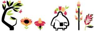 Google Doodle Frühlingsanfang 2014