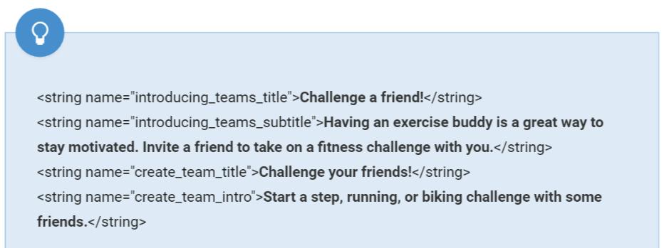 fit challenge string