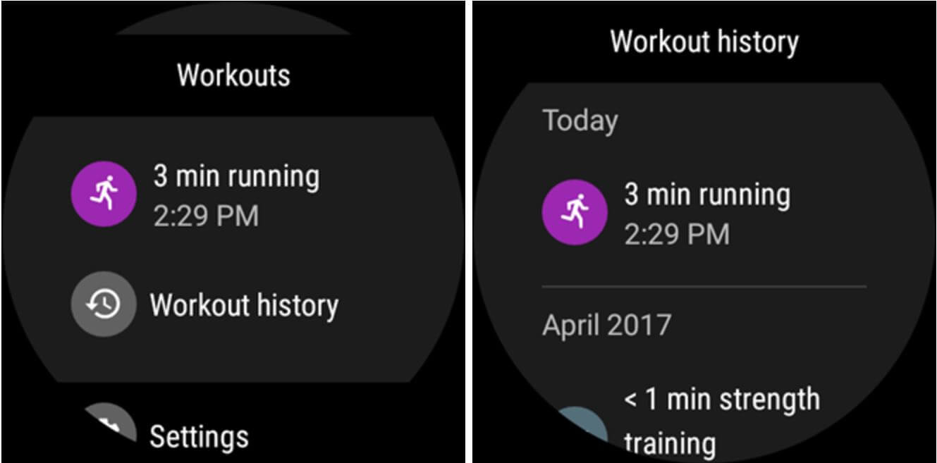 fit workout history