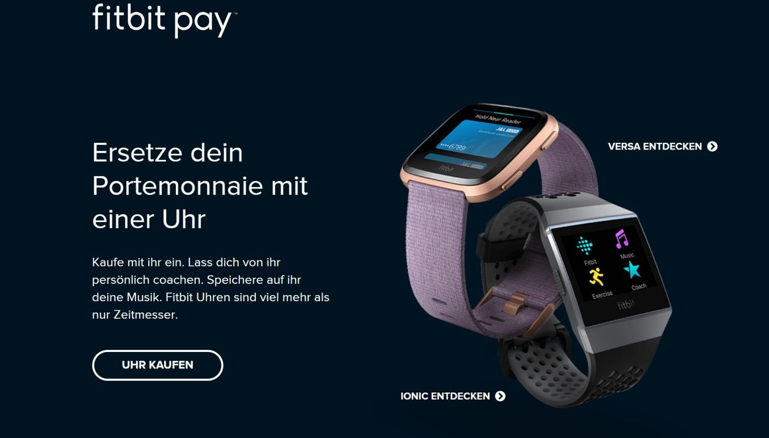 fitbit pay smartwatch