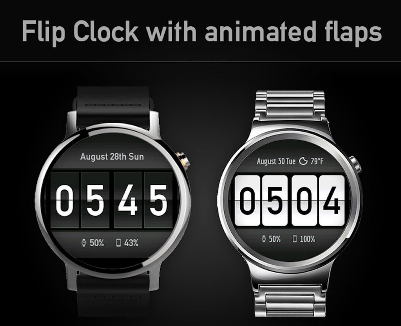 flip clock logo
