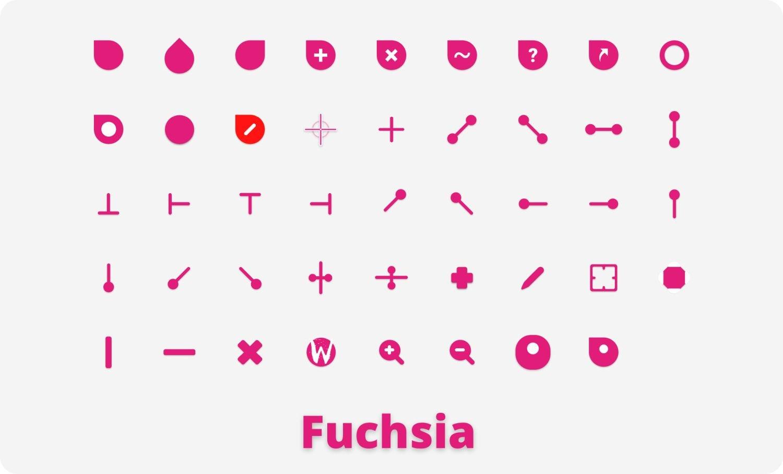 fuchsia cursor pink