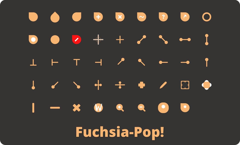 fuchsia cursor pop