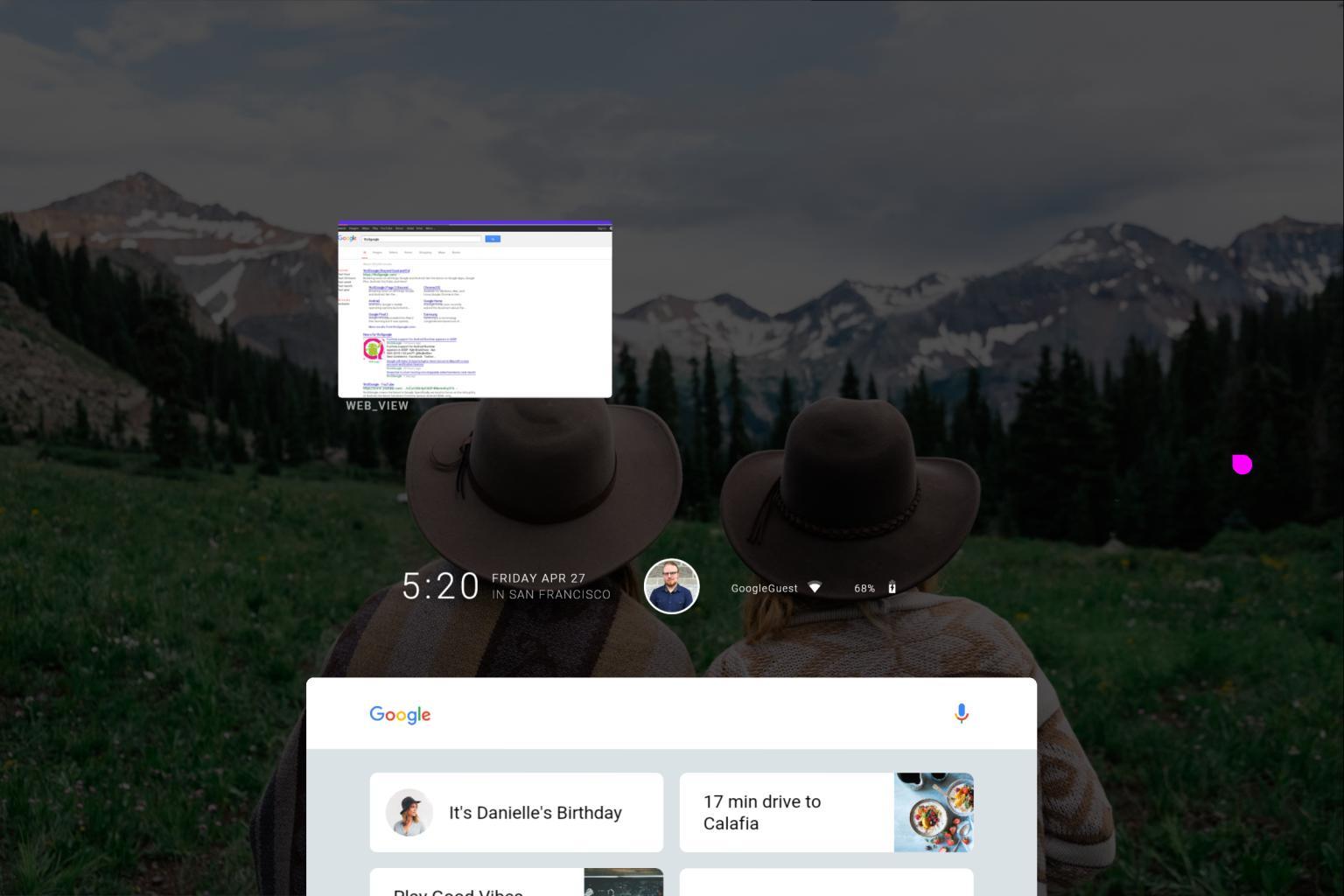 fuchsia desktop