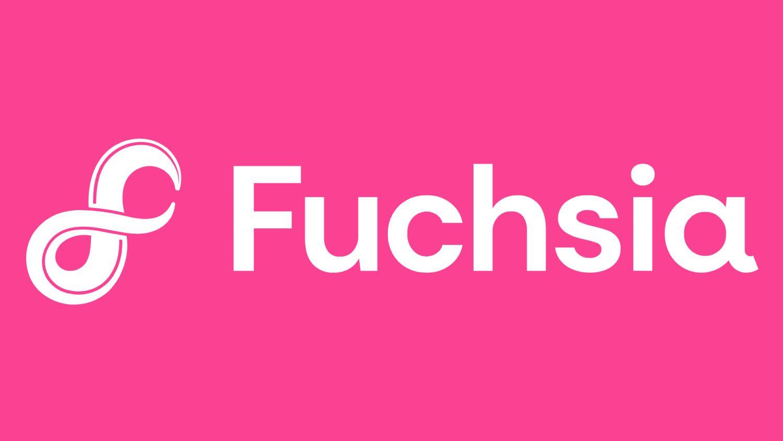 fuchsia logo text