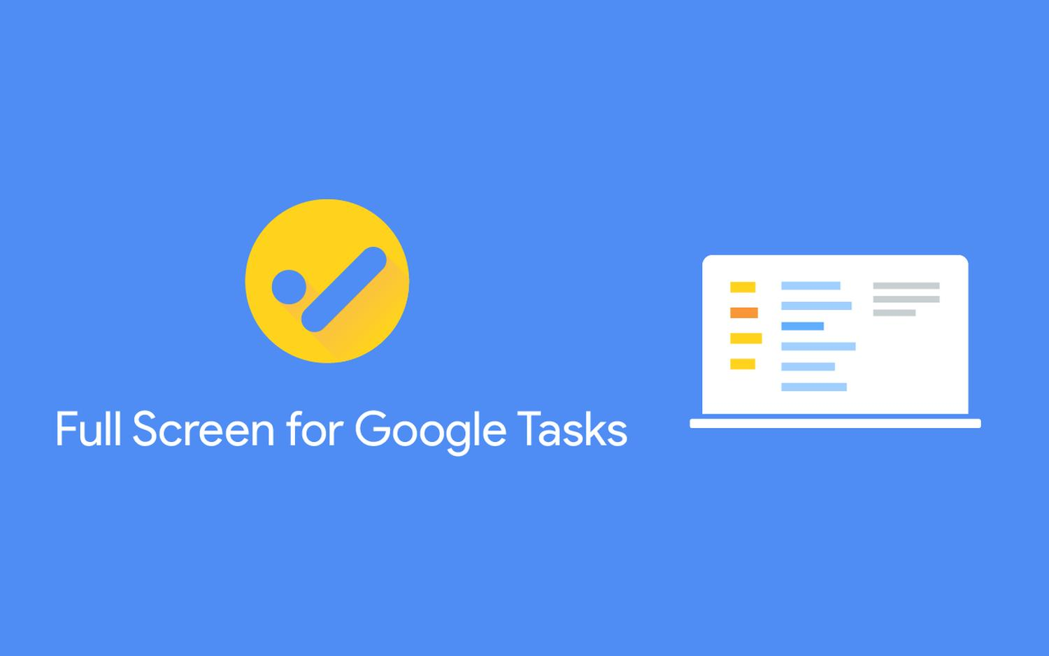 full screen google tasks logo