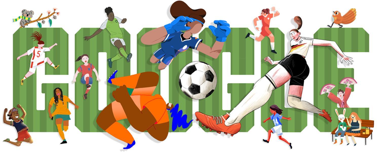 fussball-weltmeisterschaft der frauen 2019 google doodle
