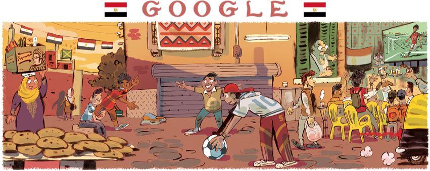 fussball wm 2018 doodle ägypten