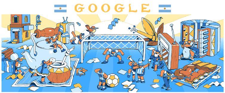 fussball wm 2018 doodle Argentinien