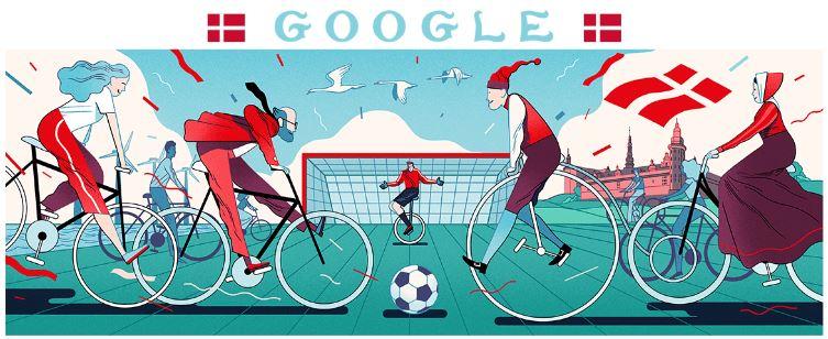 fussball wm 2018 doodle Dänemark