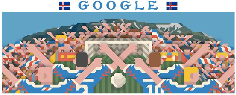 fussball wm 2018 doodle Island