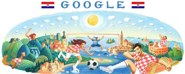 fussball wm 2018 doodle Kroatien