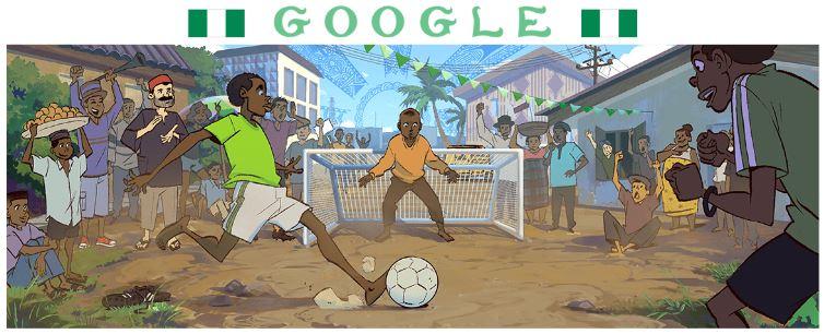 fussball wm 2018 doodle Nigeria
