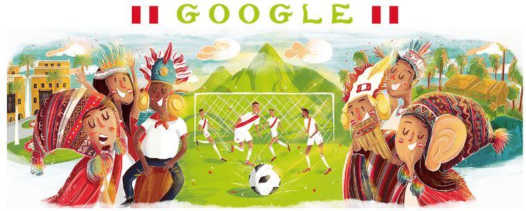 fussball wm 2018 doodle Peru