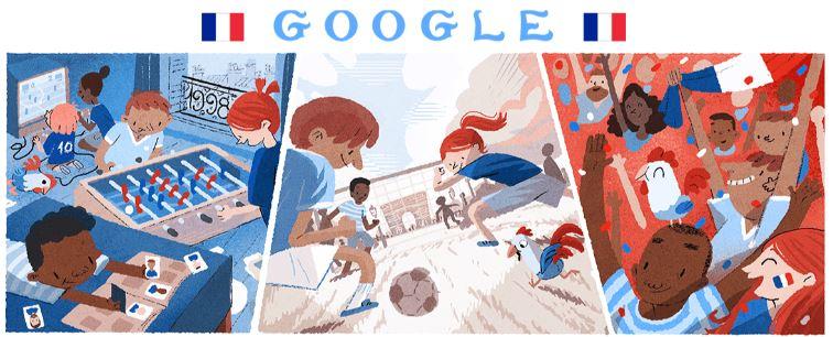 fussball wm 2018 doodle frankreich