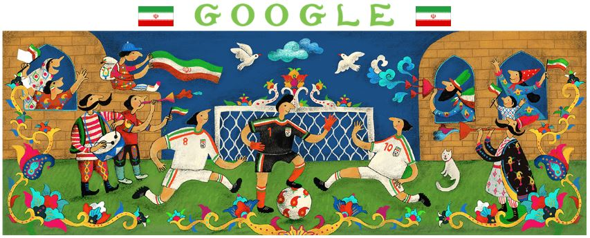 fussball wm 2018 doodle iran