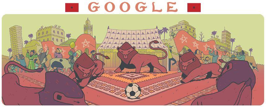 fussball wm 2018 doodle marokko