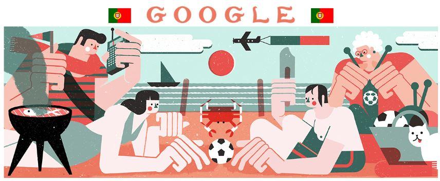 fussball wm 2018 doodle portugal