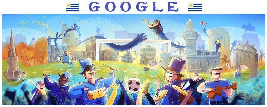 fussball wm 2018 doodle uruguay