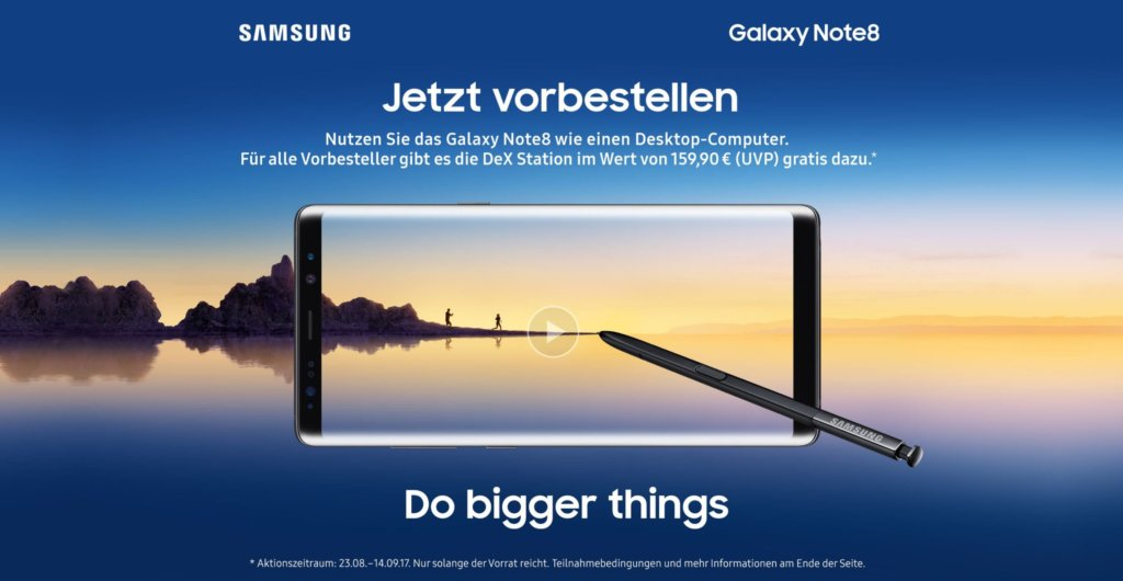 Galaxy Note 8 Aktion