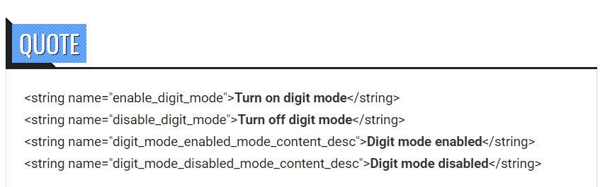gboard digit mode