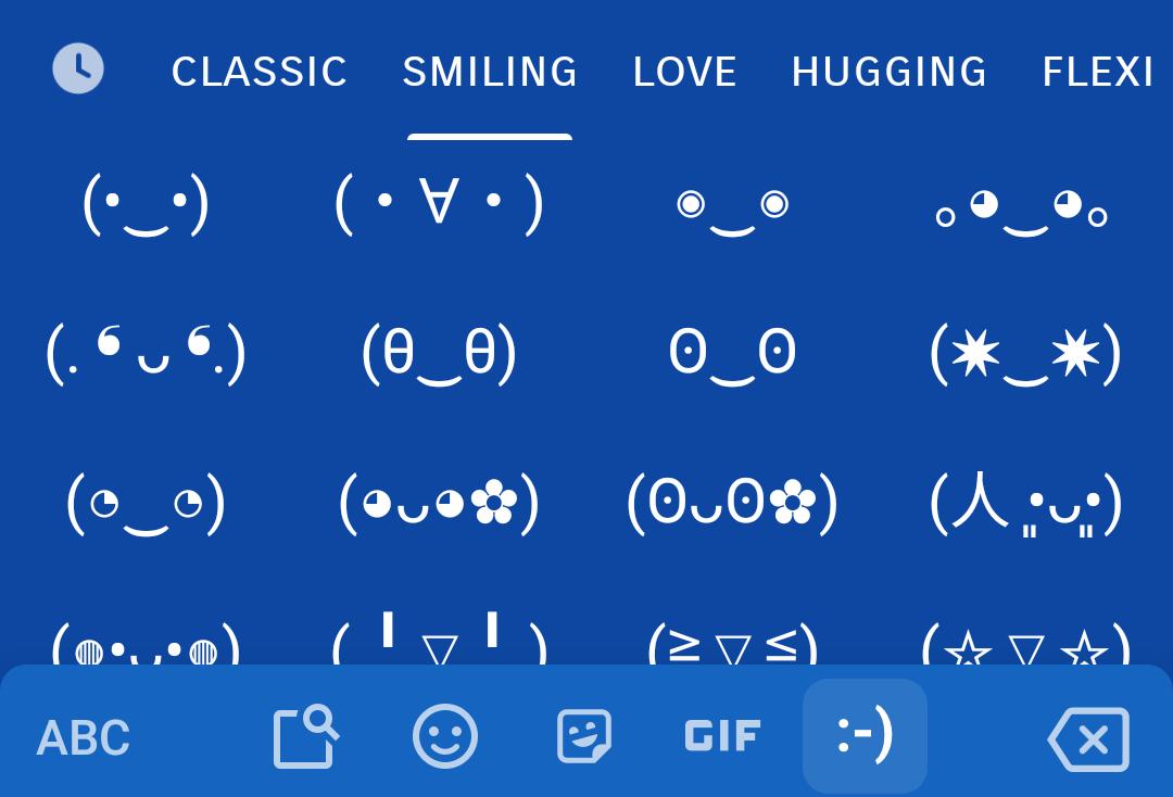 gboard emoticons