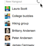 Hangouts Telefonieren in Gmail