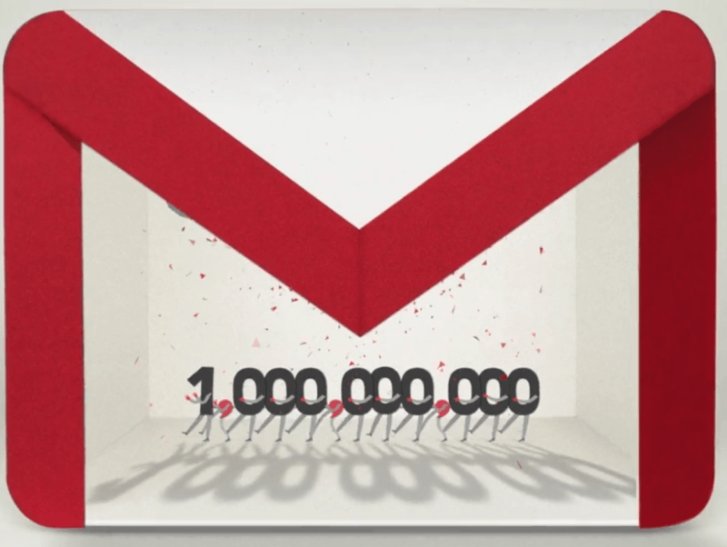 gmail billion