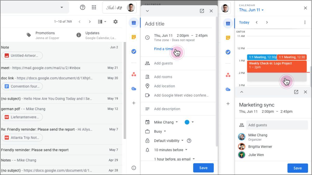 gmail kalender integration