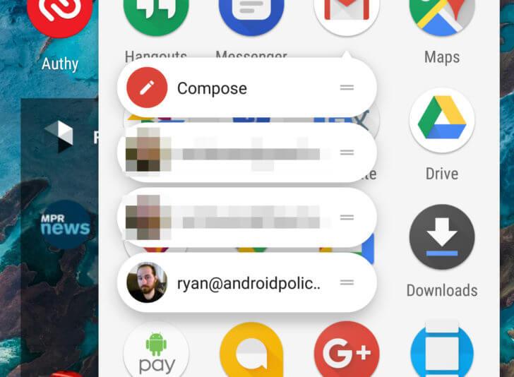 gmail launcher shortcuts