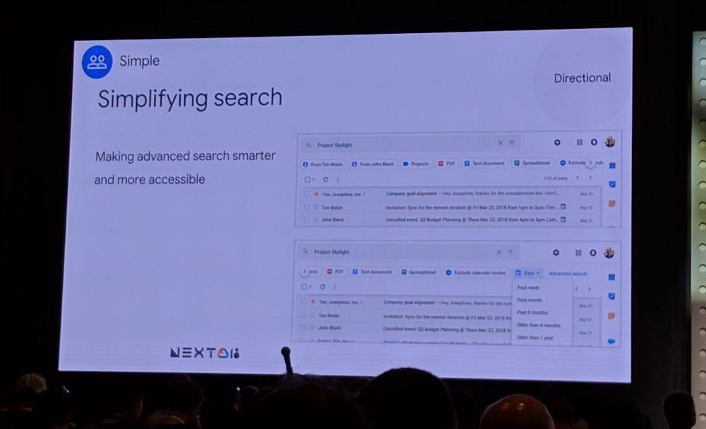 gmail new design suche