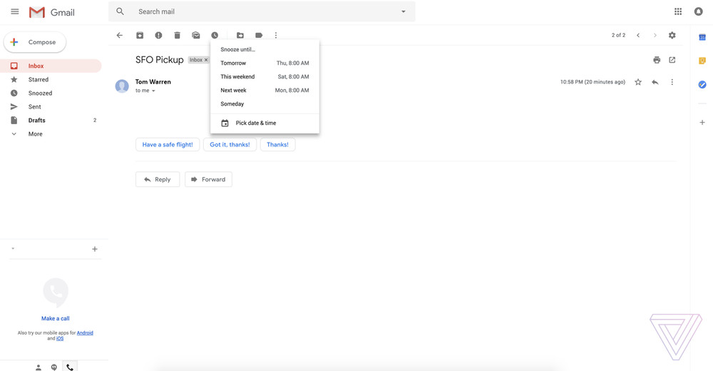 gmail redesign 2