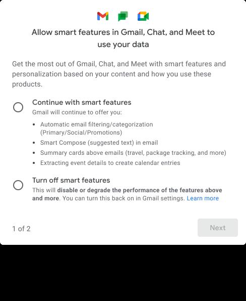 gmail smart features deaktivieren 1